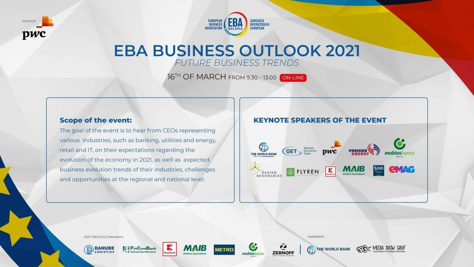 Welcome to EBA BUSINESS OUTLOOK 2021